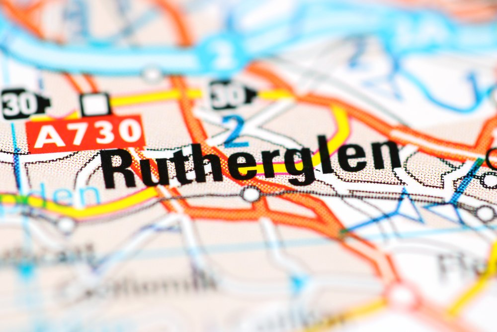 Map of Rutherglen and surrounding area