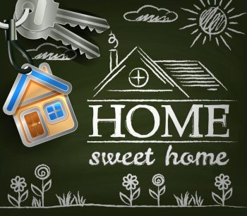 Happy Home image saying Home Sweet Home